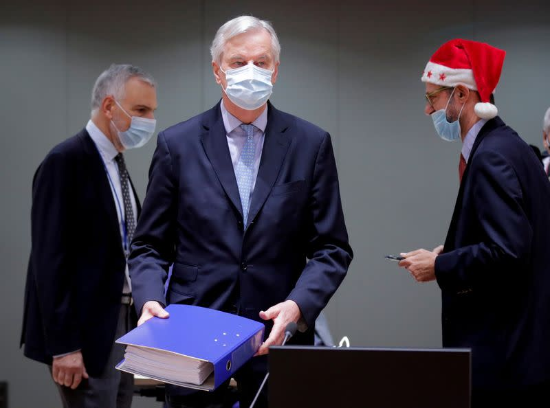 FILE PHOTO: European Union's chief Brexit negotiator Michel Barnier attends a meeting of the COREPER in Brussels