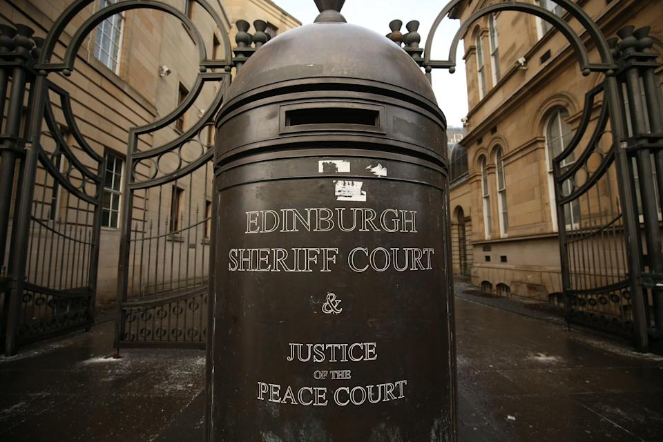 He appeared at Edinburgh Sheriff Court on Thursday (Jane Barlow/PA) (PA Archive)