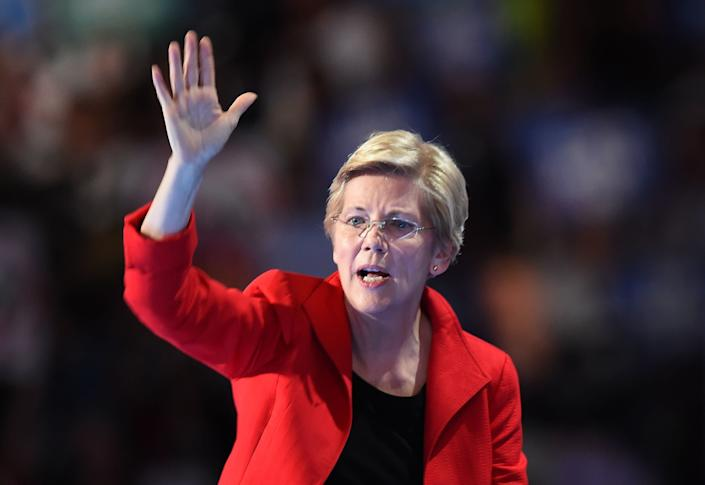 "Trump has repeatedly&nbsp;referred to the senator&nbsp;as &ldquo;<a href=""http://shows.huffingtonpost.com/video/donald-trump-calls-elizabeth-warren-pocahontas-warren-shakes-it-off-573a2725e4b02a3388eab726"" rel=""nofollow noopener"" target=""_blank"" data-ylk=""slk:Pocahontas"" class=""link rapid-noclick-resp"">Pocahontas</a>&rdquo; because of an old <a href=""https://www.washingtonpost.com/news/the-fix/wp/2016/03/21/the-fight-over-elizabeth-warrens-heritage-explained/"" rel=""nofollow noopener"" target=""_blank"" data-ylk=""slk:controversy"" class=""link rapid-noclick-resp"">controversy</a> over her claims of Native American heritage."