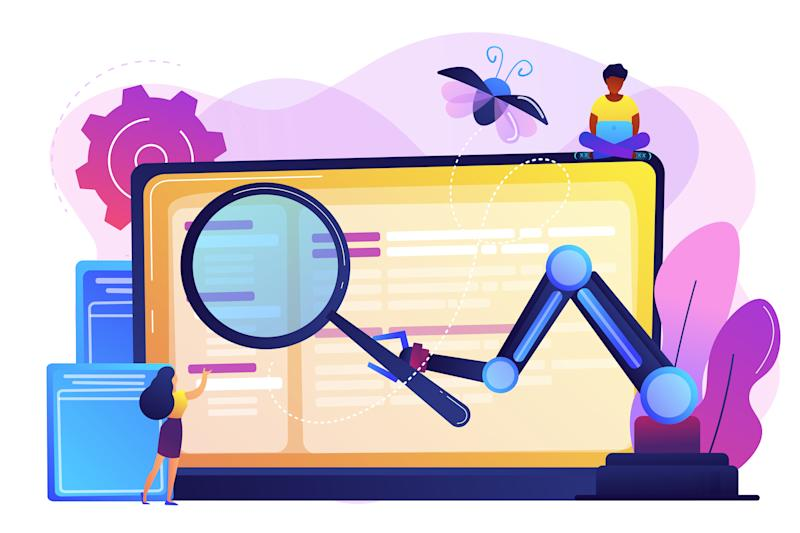 Automated testing concept vector illustration.