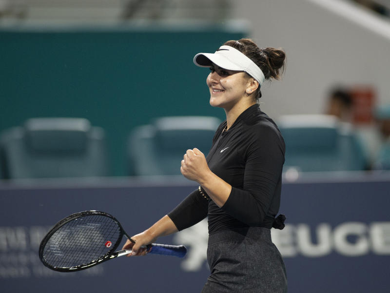 Andreescu retires in Miami Open clash with Kontaveit