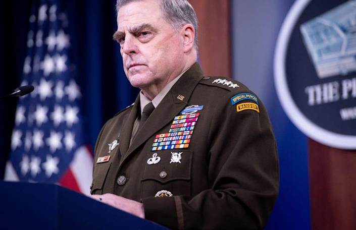 """<div class=""""inline-image__caption""""><p>Gen. Mark Milley, chairman of the Joint Chiefs of Staff</p></div> <div class=""""inline-image__credit"""">Saul Loeb/AFP via Getty</div>"""