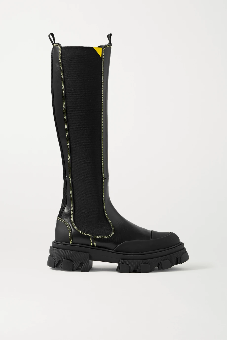 "<br><br><strong>Ganni</strong> Rubber-Trimmed Leather Chelsea Knee Boots, $, available at <a href=""https://go.skimresources.com/?id=30283X879131&url=https%3A%2F%2Fwww.net-a-porter.com%2Fen-us%2Fshop%2Fproduct%2Fganni%2Frubber-trimmed-leather-chelsea-knee-boots%2F1272622"" rel=""nofollow noopener"" target=""_blank"" data-ylk=""slk:Net-A-Porter"" class=""link rapid-noclick-resp"">Net-A-Porter</a>"
