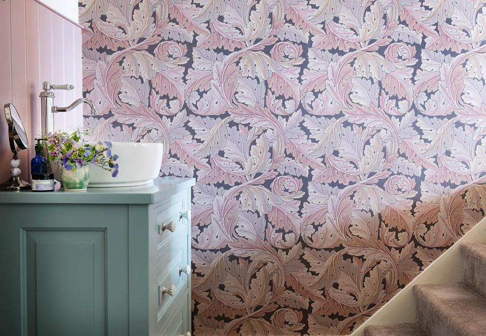 Yorkshire Dales village home with William Morris wallpapers