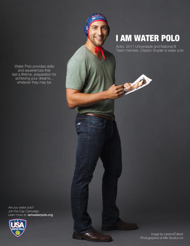 Clayton Snyder for USA Waterpolo Cap Campaign