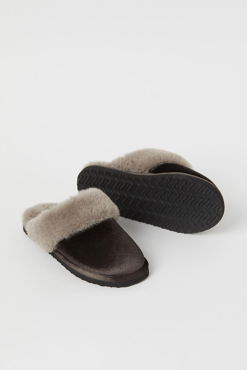 <p>These <span>Warm-Lined Indoor Slippers</span> ($25) are easy to slip on or off, and very comfortable to walk around in all day.</p>