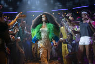 """This image released by FX shows Billy Porter in a scene from """"Pose."""" The program was nominated for an Emmy Award for outstanding drama series. (Michael Parmelee/FX via AP)"""