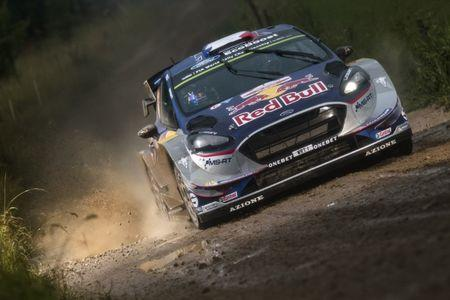 Sebastien Ogier (FRA) and Julien Ingrassia (FRA) perform during the FIA World Rally Championship 2017 in Mikolajki, Poland on July 2, 2017 // Jaanus Ree/Red Bull Content Pool.