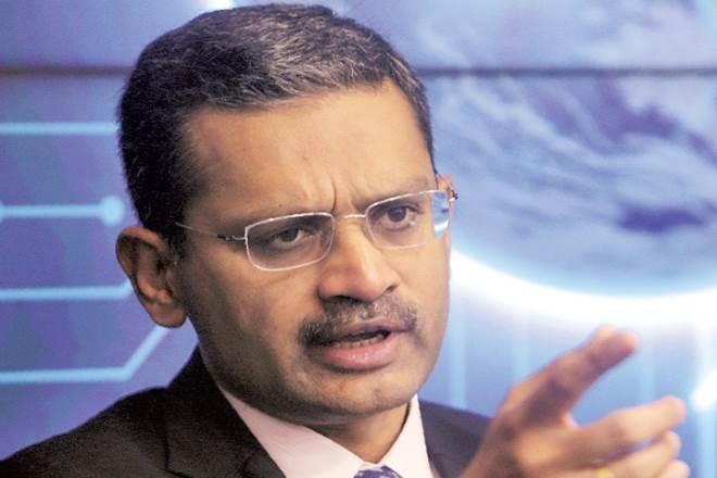 Tata Consultancy Services CEO & MD Rajesh Gopinathan during a press conference in Mumbai on Tuesday (AP photo)
