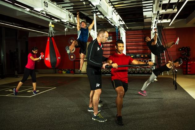 Virgin Active offers 150 group exercise classes, including functional training at zones armed with suspension ropes, kettlebells and more. (Photo from Virgin Active)