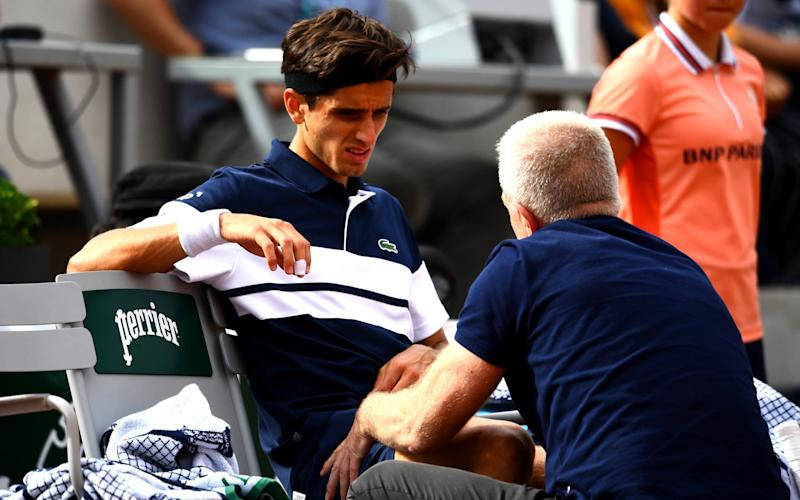 Last month, the US Open put forward plans to experiment with coaching from the stands  - Getty Images Europe