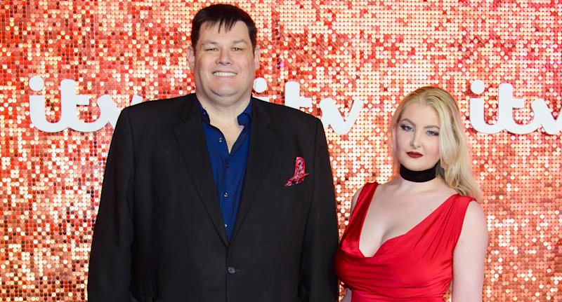 Mark Labbett and Katie Labbett are second cousins as well as husband and wife. (Photo by Joe Maher/FilmMagic)