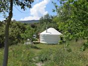 """<p><span>Tucked away at the end of a vast garden, </span><a href=""""https://coolcamping.com/campsites/europe/spain/andalucia/granada/726-green-mountain-yurt"""" rel=""""nofollow noopener"""" target=""""_blank"""" data-ylk=""""slk:this single, eco-friendly yurt"""" class=""""link rapid-noclick-resp""""><span>this single, eco-friendly yurt</span></a><span> with a private bathroom and outdoor cooking shelter has one of the most sought after locations in the Sierra Nevada mountains. You'll have easy access to the Sierra Nevada National Park and it's just a short drive to Spain's south coast. </span><span>Yurt (including two people) from €60 (£51) per night. [Photo: Cool Camping]</span> </p>"""