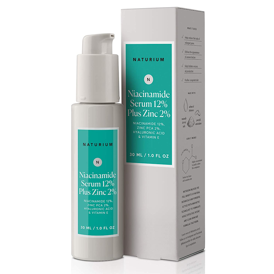 """<h2>20% Off Niacinamide Serum 12% Plus Zinc 2%</h2><br>A multitude of self-professed acne sufferers swear by this seemingly miracle-working skin-clearing serum — including one of our very own: """"I found this niacinamide serum after searching 'how to get rid of forehead bumps' on Youtube…and let me tell you, just 2 weeks of use and there isn't a forehead bump to be seen. I. Am. Serious,"""" Kate Spencer confesses of this top-carted favorite (that's now 20% off for Prime Day!).<br><br><em>Shop</em> <strong><em><a href=""""https://amzn.to/3gHSV5D"""" rel=""""nofollow noopener"""" target=""""_blank"""" data-ylk=""""slk:Naturium"""" class=""""link rapid-noclick-resp"""">Naturium</a></em></strong> <br><br><strong>Natrium</strong> Niacinamide Serum 12% Plus Zinc 2%, $, available at <a href=""""https://www.amazon.com/gp/product/B07WSS5M4Z/ref=ppx_yo_dt_b_asin_title_o03_s00"""" rel=""""nofollow noopener"""" target=""""_blank"""" data-ylk=""""slk:Amazon"""" class=""""link rapid-noclick-resp"""">Amazon</a>"""