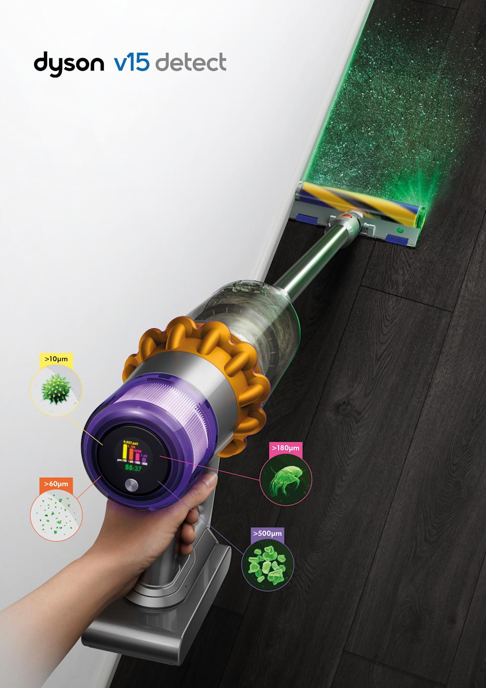 Dyson V15 Detect stick vacuum with laser