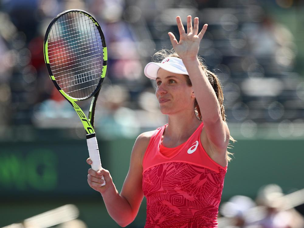 Konta is the first British woman to reach the Miami Open semi-finals: Getty
