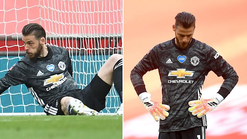 Pictured here, Manchester United keeper David de Gea during the FA Cup semi-final against Chelsea.