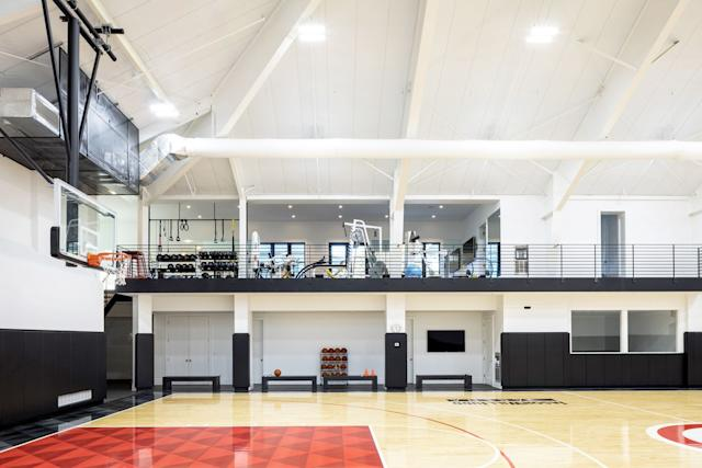 There S A Full Size Basketball Court And A Movie Theater Inside This House