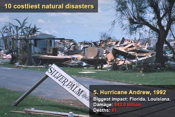 10 costliest natural disasters - Hurricane Andrew