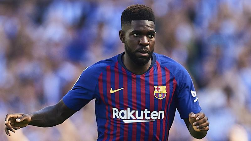 Barcelona confirm Umtiti has bruised foot