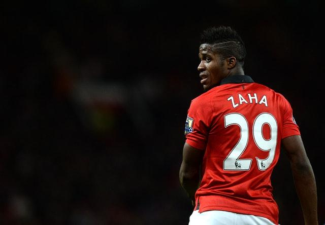 Wilfried Zaha was limited to just two Premier League appearances at Manchester United