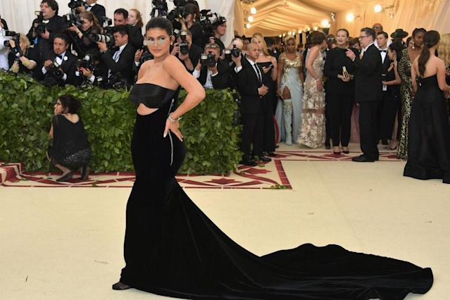 "<p>The youngest Jenner had her first ""parent's night out,"" wearing an edgy Alexander Wang creation. (Photo: Getty Images) </p>"