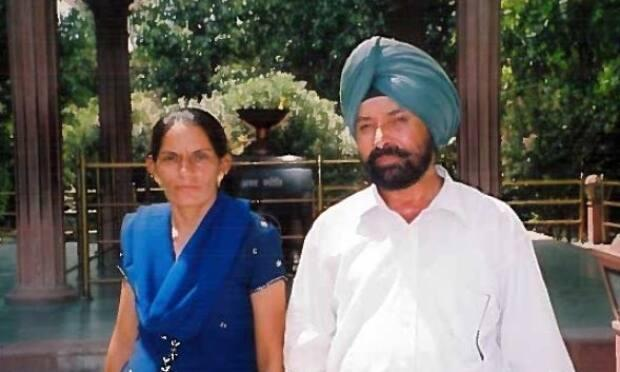 Paramjit and Charanjit during one of their vacations in India.