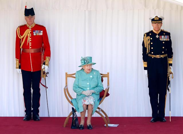 Queen Elizabeth enjoyed a smaller version of the Trooping the Colour ceremony on her June 13 birthday. (Photo: Getty Images)