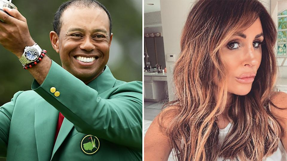Tiger Woods's former mistress Rachel Uchitel has opened up about her role in the golfer's infamous sex scandal in an upcoming two-part documentary about him. Pictures: Getty Images/Instagram