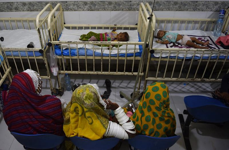 In Pakistan, only 38 percent of babies are fed breast milk exclusively during their first six months in line with UN recommendations (AFP Photo/RIZWAN TABASSUM)