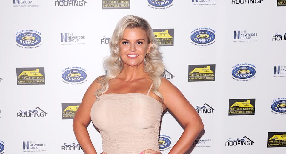 Kerry Katona attends the Paul Strank Charity Gala supporting Shooting Star Children's Hospices & Rays of Sunshine Charity at the Bank of England Sports Centre in London. (Photo by Keith Mayhew/SOPA Images/LightRocket via Getty Images)