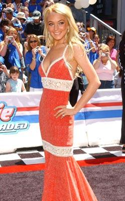 """Premiere: <a href=""""/movie/contributor/1800025964"""">Lindsay Lohan</a> at the Hollywood premiere of Walt Disney Pictures' <a href=""""/movie/1808404374/info"""">Herbie: Fully Loaded</a> - 6/19/2005<br>Photo: <a href=""""http://www.wireimage.com"""">Jean-Paul Aussenard, WireImage.com</a>"""