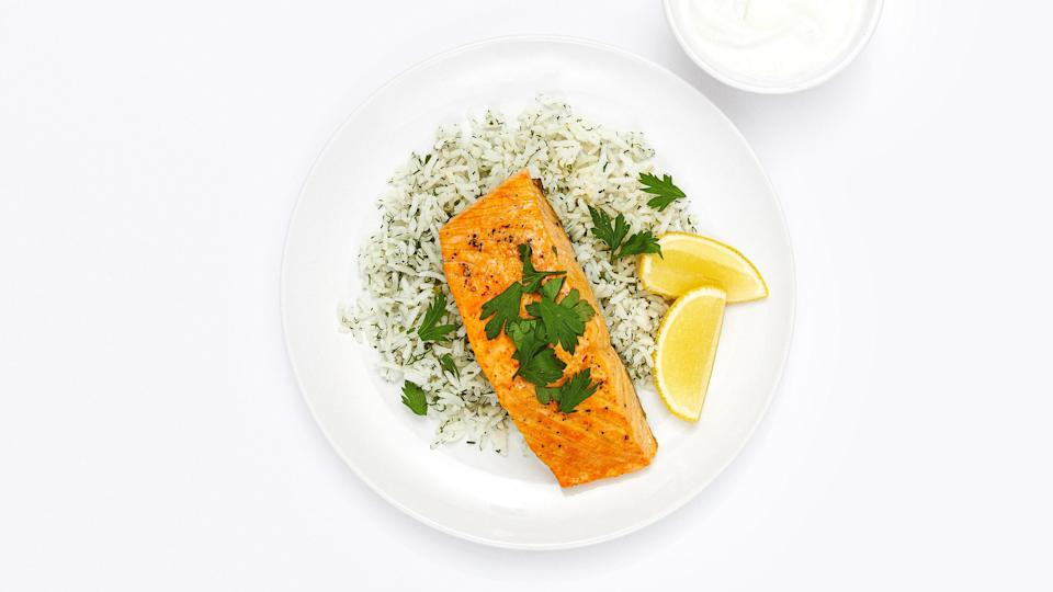 "<a href=""https://www.bonappetit.com/recipe/lemon-saffron-salmon-with-dill-rice?mbid=synd_yahoo_rss"" rel=""nofollow noopener"" target=""_blank"" data-ylk=""slk:See recipe."" class=""link rapid-noclick-resp"">See recipe.</a>"