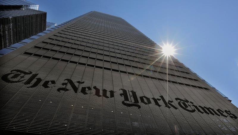 The New York Times Building in New York City. (Brendan McDermid/Reuters/File)