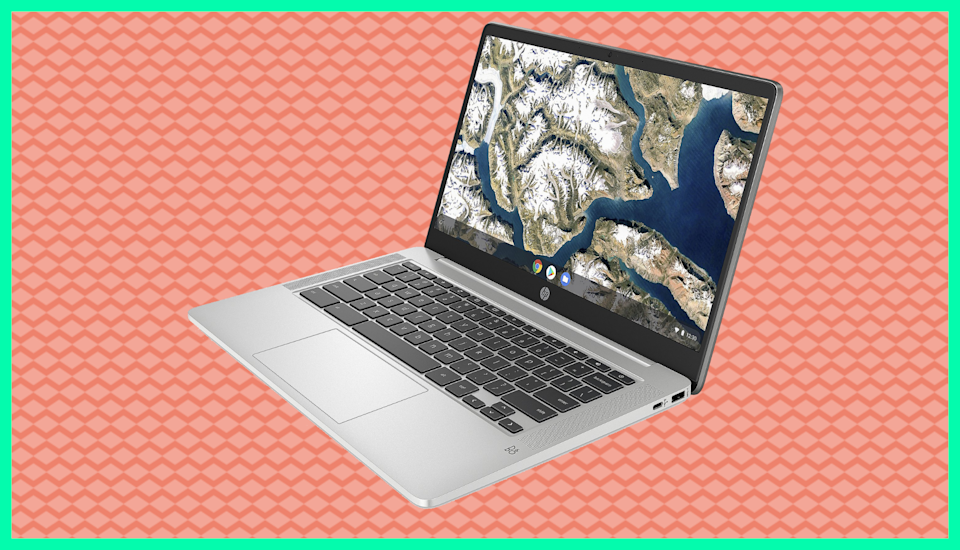 You'll be getting busier than these visuals with this HP 14 Touch Chromebook bundle. (Photo: QVC)