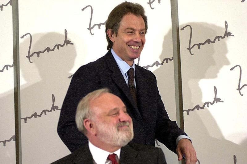 Yorkshire-born Mr Dobson with former Labour PM Tony Blair in 2000 (PA Wire/PA Images)