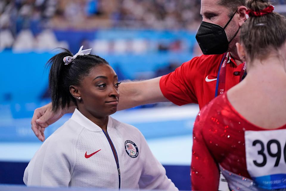 Biles has spoken candidly about her mental health (AP)