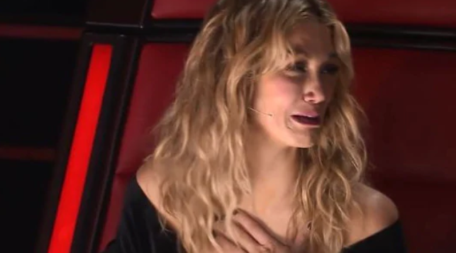 The Voice coach Delta Goodrem broke down during Tuesday night's episode. Photo: Channel Nine