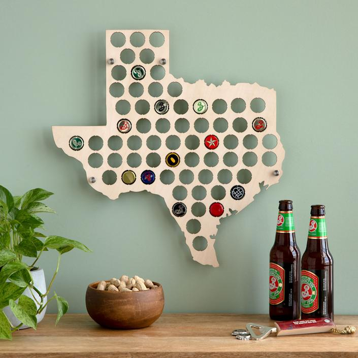 UncommonGoods Beer Cap States Display Board