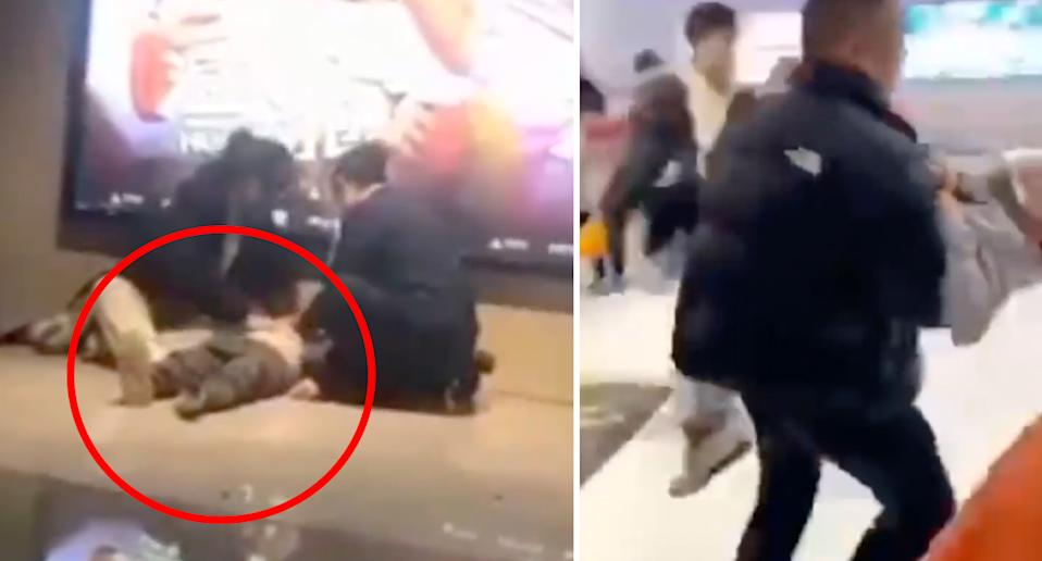 People inside the theatre passed out from what is believed to be carbon monoxide. Source: Beijing Youth Daily/ Haokan