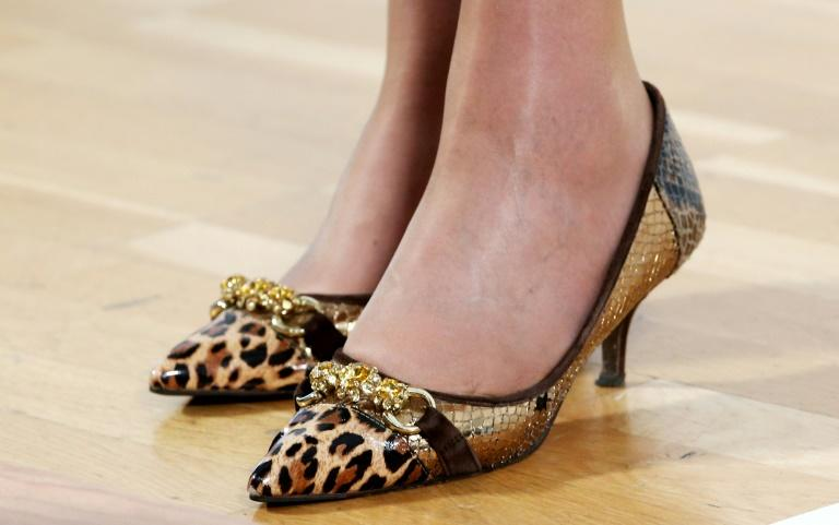 May has become known for her collection of leopard-print shoes