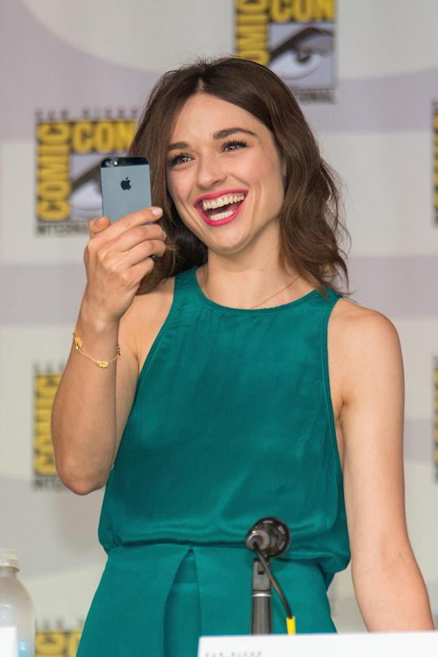 SAN DIEGO, CA - JULY 18: Actress Crystal Reed attends the Teen Wolf panel during Comic-Con International 2013 on July 18, 2013 in San Diego, California. (Photo by Paul A. Hebert/WireImage)