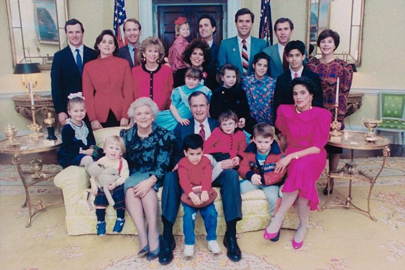 Barbara Bush and her family