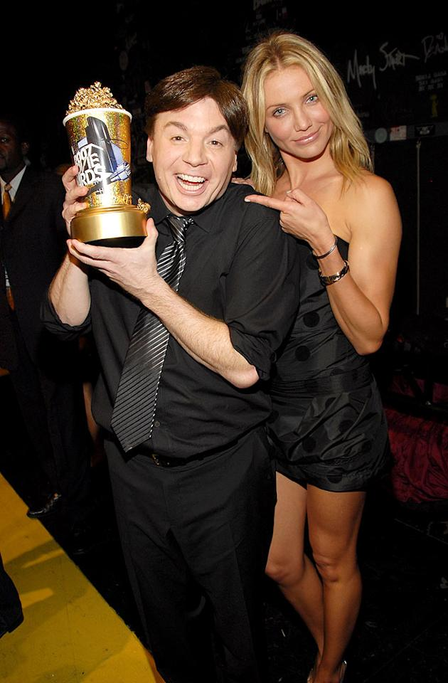 "Mike Myers, MTV Generation Award honoree, and Cameron Diaz having some fun. Kevin Mazur/<a href=""http://www.wireimage.com"" target=""new"">WireImage.com</a> - June 3, 2007"