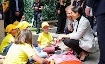<p>The Duke and Duchess met a few young children while attending Day 2 of the Invictus Games in Sydney. </p>