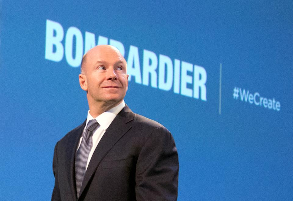 Bombardier Inc.'s Alain Bellemare, president and chief executive officer, arrives for the annual general meeting in Montreal, Quebec, Canada May 11, 2017. REUTERS/Christinne Muschi