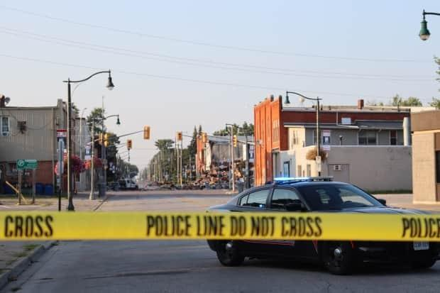 Two days after the buildings in Wheatley exploded at the end of August.  (Jennifer La Grassa/CBC - image credit)