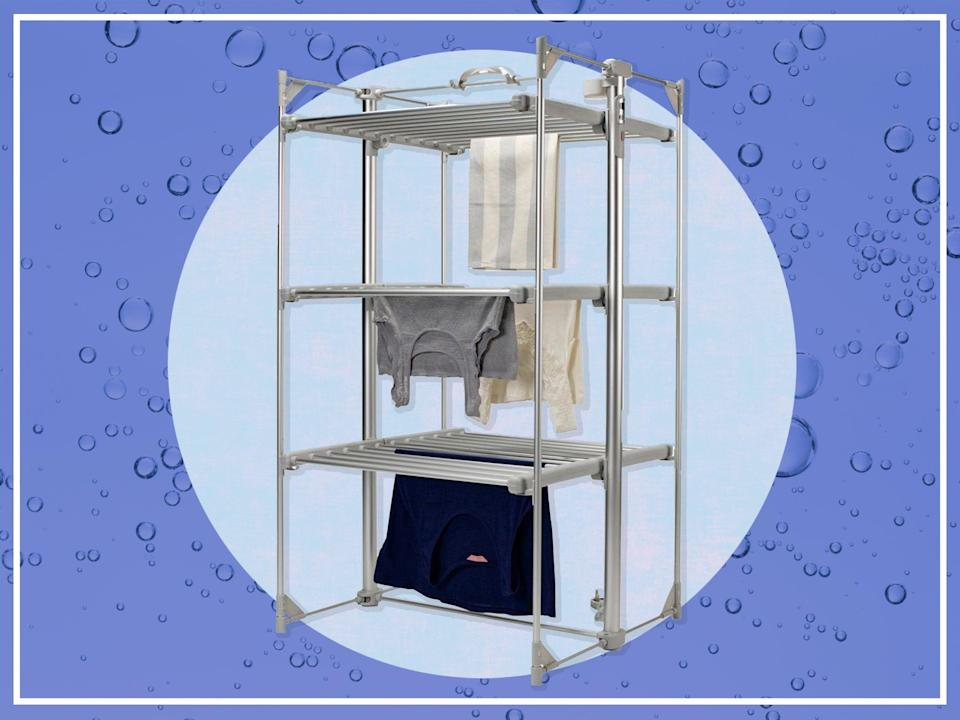 <p>This drying rack claims to hold 15kg of wet washing</p> (iStock/The Independent)