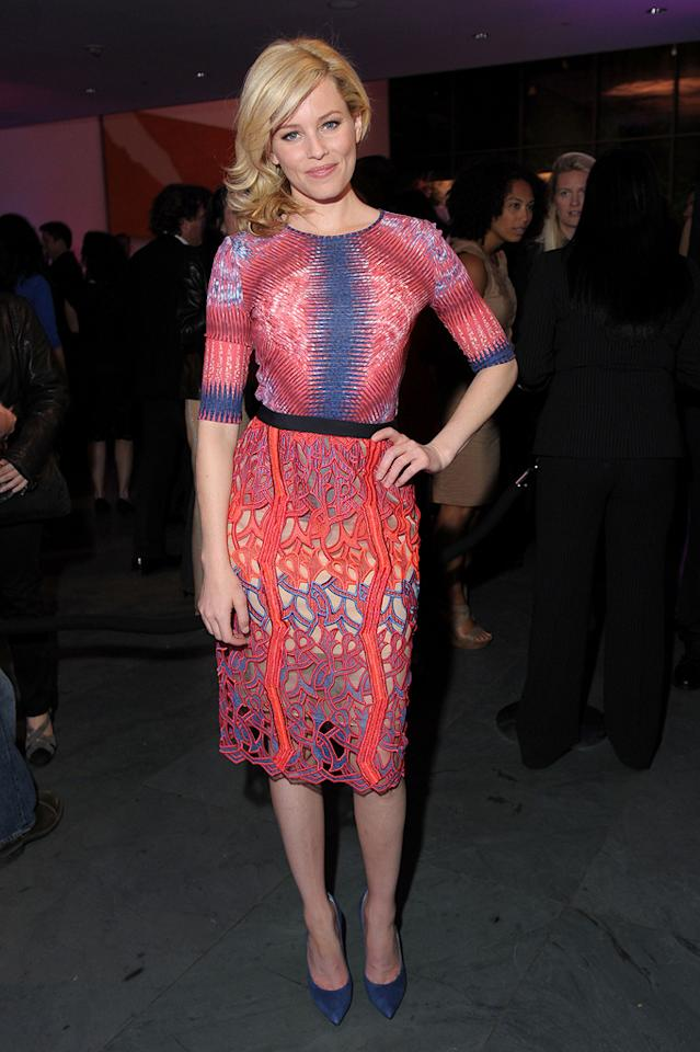 """Elizabeth Banks attends """"The Five Year Engagement"""" premiere opening  night party during the 2012 Tribeca Film Festival at the MOMA on April  18, 2012 in New York City."""