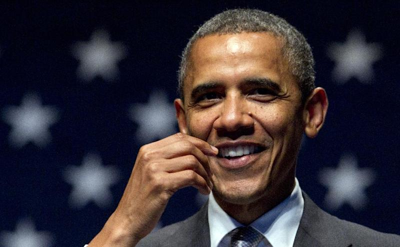 President Barack Obama speaks during an campaign fundrasising concert at the Fillmore Miami Beach at the Jackie Gleason Theater, Tuesday, June 26, 2012, in Miami Beach. (AP Photo/Carolyn Kaster)